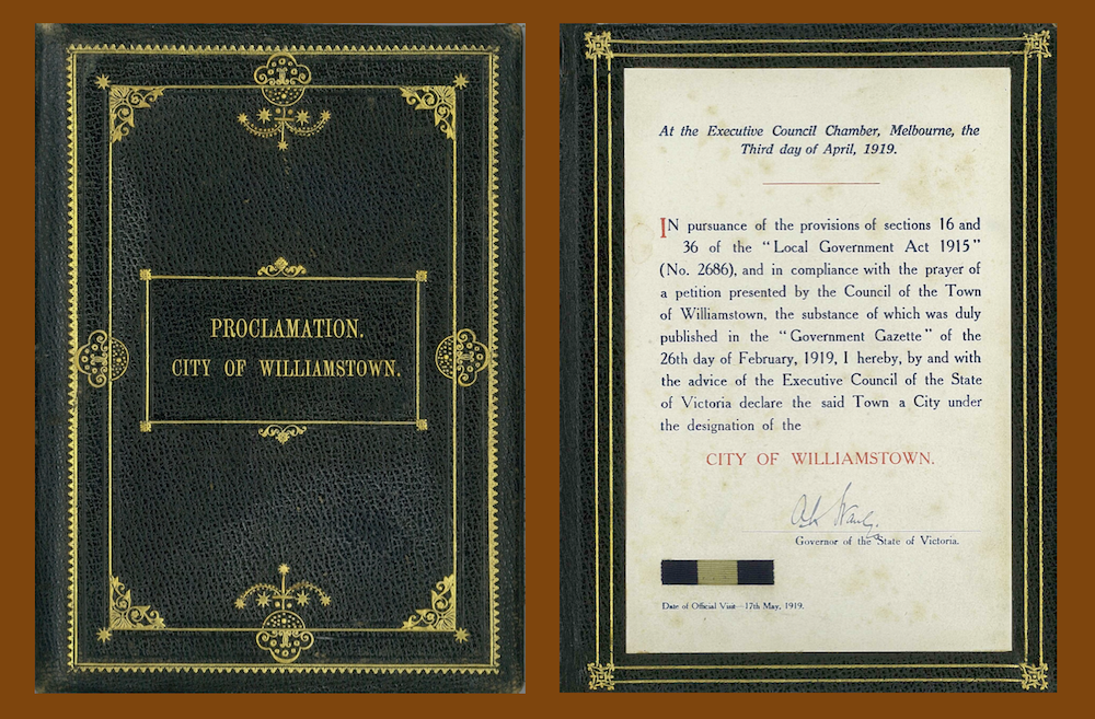 Proclamation of Williamstown