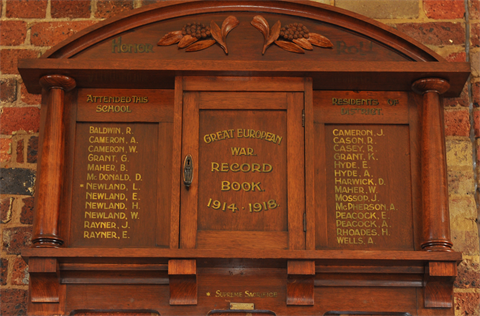 Old Laverton School Honor Board