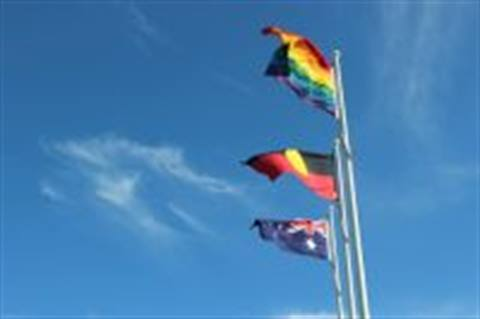 IDAHOBIT flag raising