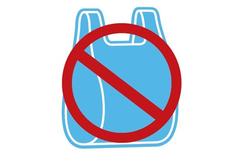 say no plastic bags